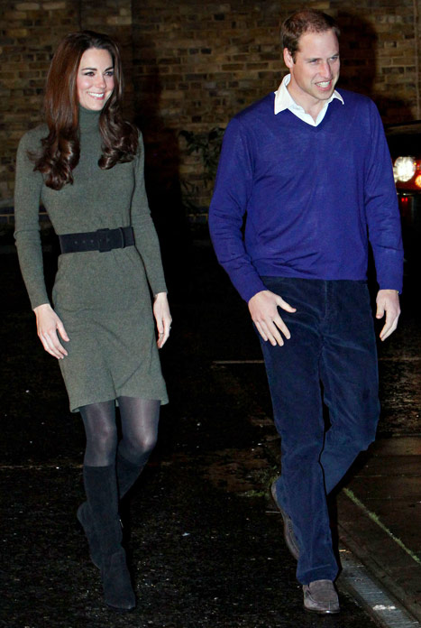 Kate Middleton et Prince William regardent Skyfall en amoureux