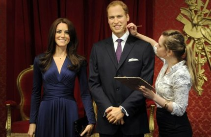 Statues de cire de Kate Middelton et le Prince William