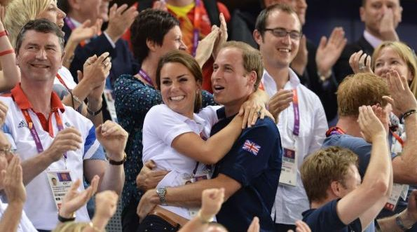 Le Prince William et Kate aux JO